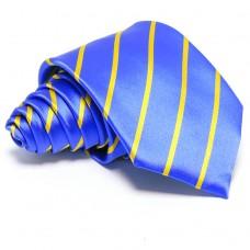 Tengerkék nyakkendő - arany csíkos