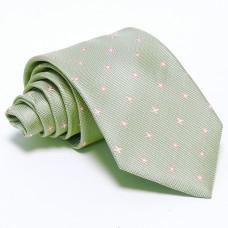 Ezüstszürke nyakkendő - rózsaszín mintás
