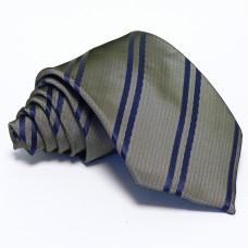 Grafitszürke nyakkendő - tengerészkék csíkos