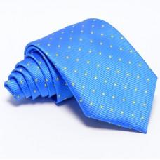 Világoskék nyakkendő - citromsárga mintás