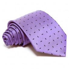 Lila selyem nyakkendő - sötétkék mintával
