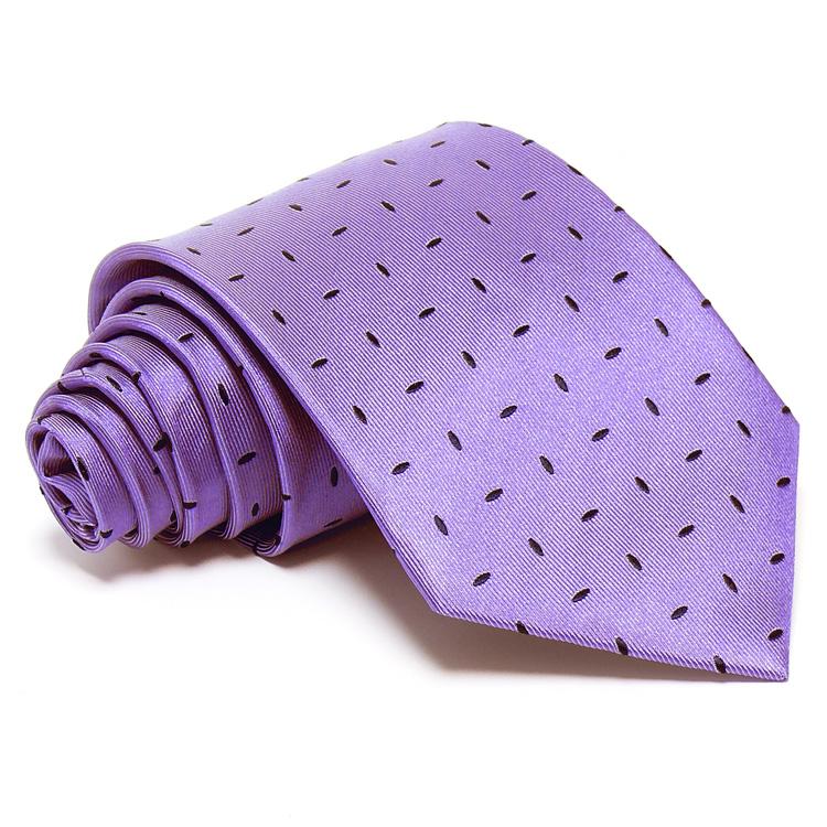 7665e718b9 Lila selyem nyakkendő - sötétkék mintával
