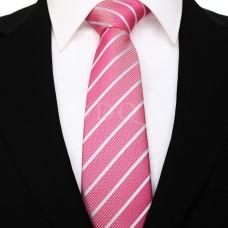 Vékony csíkos - rózsaszín/fehér