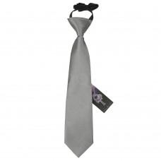 Gumis gyermek nyakkendő - platina