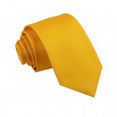 Citromsárga, anyagában mintás nyakkendő