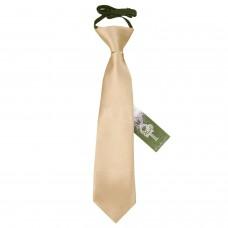 Gumis gyermek nyakkendő - világos mokka barna