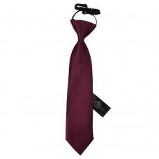 Gumis gyermek nyakkendő - sötét bordó