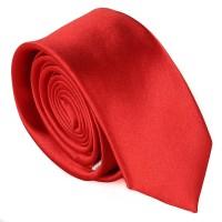 Egyszínű keskeny nyakkendő - piros