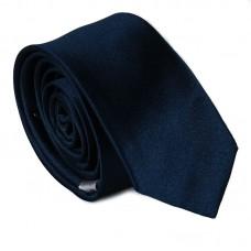 Egyszínű keskeny nyakkendő - tengerészkék