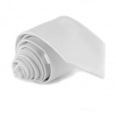 Fehér, anyagában mintás nyakkendő