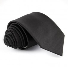 Fekete, anyagában mintás nyakkendő