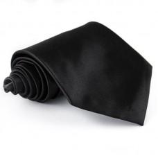 Fekete egyszínű nyakkendő