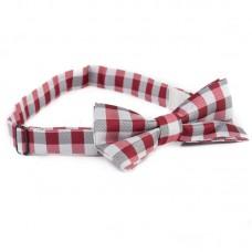Férfi kockás csokornyakkendő - piros