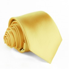 Modern szabású egyszínű nyakkendő - arany