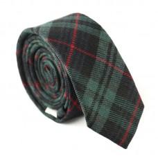 Keskeny, mintás nyakkendő - zöld/piros