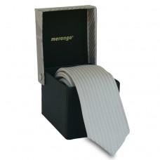 Keskeny, világosszürke nyakkendő dobozban