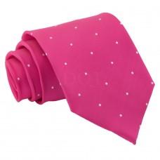Aprópöttyös nyakkendő - magenta