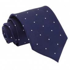 Aprópöttyös nyakkendő - tengerészkék