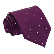 Aprópöttyös nyakkendő - sötétlila