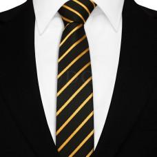 Keskeny nyakkendő - fekete/arany