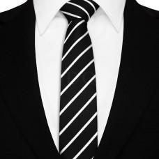 Keskeny nyakkendő - fekete/fehér