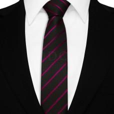 Keskeny nyakkendő - fekete/lila