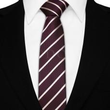 Keskeny nyakkendő - lila/ezüst