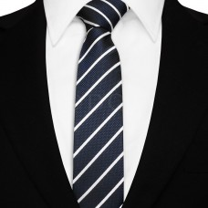 Keskeny nyakkendő - tengerészkék/fehér