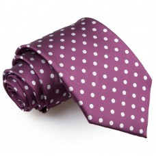 Pöttyös nyakkendő - lila