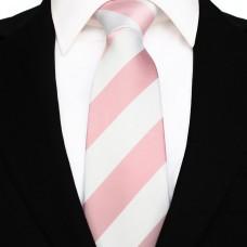 Széles csíkos - rózsaszín/fehér