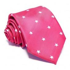 Magenta nyakkendő - fehér csillagos