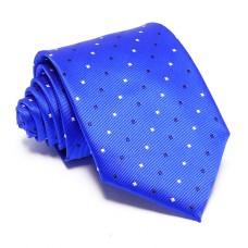 Kék nyakkendő - fekete-fehér mintás