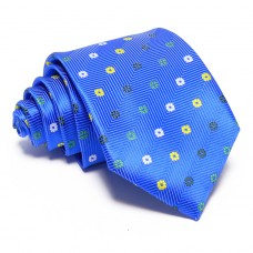 Kék nyakkendő - virágmintás