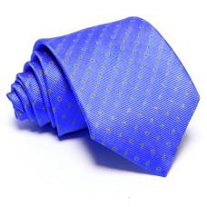 Égszínkék nyakkendő - arany mintás