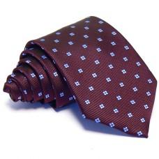Burgundi nyakkendő - babakék mintás