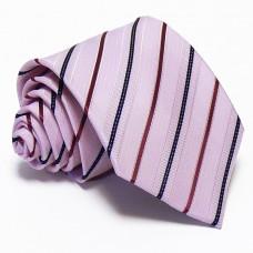 Rózsaszín nyakkendő - burgundi-sötétkék csíkos