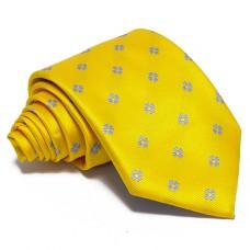 Citromsárga nyakkendő - babakék mintás