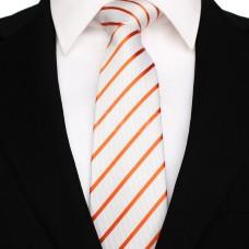 Vékony csíkos - fehér/narancssárga
